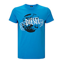 Buy Diesel T-Diego-NC T-Shirt, Mediterranean Blue Online at johnlewis.com