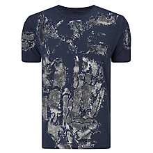 Buy Diesel T-Joe-ND Abstract T-Shirt, Peacoat Blue Online at johnlewis.com