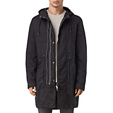 Buy AllSaints Geo Parka Coat, Black Online at johnlewis.com