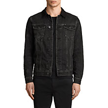 Buy AllSaints Donlington Denim Jacket, Black Online at johnlewis.com