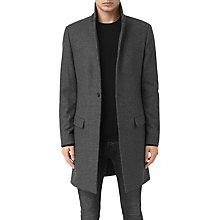 Buy AllSaints Navan Single Breast Coat, Charcoal Grey Online at johnlewis.com