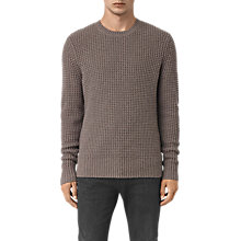 Buy AllSaints Tornn Merino-Blend Knitted Jumper, Fawn Brown Marl Online at johnlewis.com