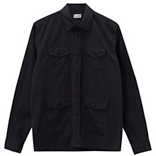 Buy Jigsaw Garment Dyed Military Overshirt, Navy Online at johnlewis.com
