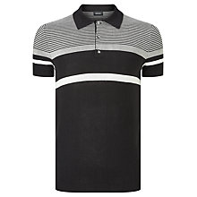 Buy Diesel K-Cortez Stripe Polo Shirt, Black/Grey Online at johnlewis.com