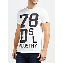 Buy Diesel T-Diego-ND 'Industry' T-Shirt, Bright White Online at johnlewis.com