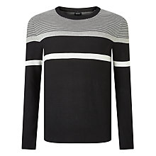 Buy Diesel K-Kat Stripe Jumper, Black Online at johnlewis.com