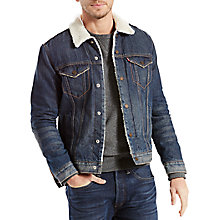 Buy Levi's The Sherpa Denim Trucker Jacket, Lucky Town Online at johnlewis.com