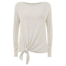 Buy Mint Velvet Flax Marl Knotted Tie Top Online at johnlewis.com