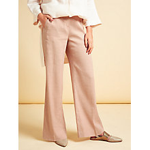 Buy Modern Rarity Linen Wide Leg Trousers, Pink Online at johnlewis.com