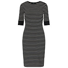 Buy Lauren Ralph Lauren Stripe Cotton Dress, Polo Black/Herbal Milk Online at johnlewis.com