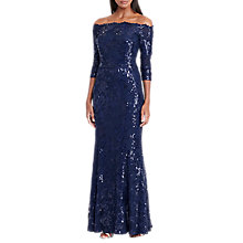 Buy Lauren Ralph Lauren Sequin Maxi Dress, Navy Shine Online at johnlewis.com
