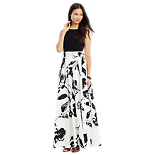 Buy Lauren Ralph Lauren Sleeveless Maxi Dress, Black/Colonial Cream Online at johnlewis.com