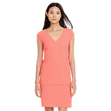 Buy Lauren Ralph Lauren Crepe V-Neck Shift Dress, Summer Peach Online at johnlewis.com