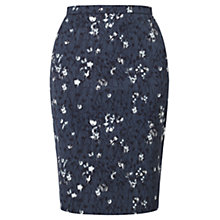 Buy Jigsaw Cornflower Pencil Skirt, Blue Smoke Online at johnlewis.com