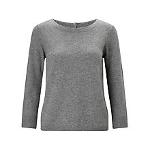 Buy Jigsaw Button Back Silk Cuff Jumper Online at johnlewis.com