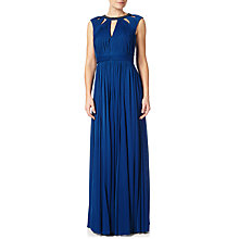 Buy Adrianna Papell Shirred Neckline Maxi Dress, Sapphire Online at johnlewis.com