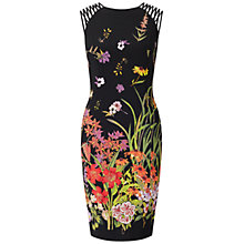 Buy Adrianna Papell Strapped Shoulder Dress, Black/Multi Online at johnlewis.com