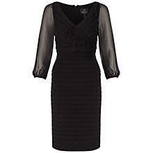 Buy Adrianna Papell Ruffle Top Matte Jersey Dress, Black Online at johnlewis.com
