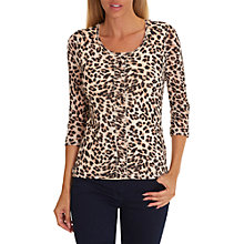 Buy Betty Barclay Animal Print Layered Top, Beige/Black Online at johnlewis.com