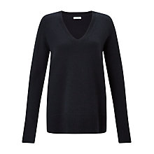 Buy Jigsaw Silk Cuff V-Neck Jumper Online at johnlewis.com