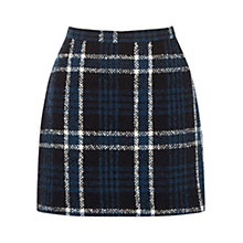 Buy Oasis Check Marley Boucle Skirt, Multi/Black Online at johnlewis.com