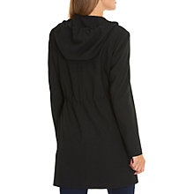 Buy Betty Barclay Hooded Crepe Parka, Black Online at johnlewis.com