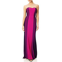 Buy Adrianna Papell Colour Block Gown, Fuchsia/Multi Online at johnlewis.com