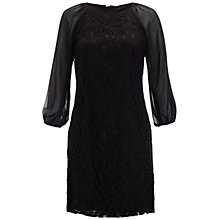 Buy Adrianna Papell Lace And Chiffon Combo Dress, Black Online at johnlewis.com
