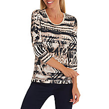 Buy Betty Barclay Animal Print Top, Camel/Beige Online at johnlewis.com