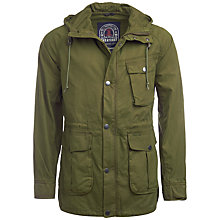 Buy Barbour Greatcoat Whitehaven Cotton Jacket, Army Green Online at johnlewis.com