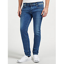 Buy Diesel Sleenker 084EJ Stretch Skinny Jeans, Blue/Grey Online at johnlewis.com