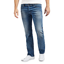 Buy Diesel Waykee Straight Jeans, Light Wash 084DF Online at johnlewis.com
