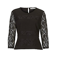 Buy Betty Barclay Textured Lace Top, Black Online at johnlewis.com