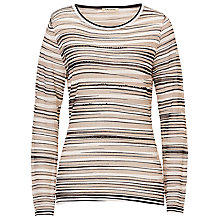 Buy Betty Barclay Metallic Stripe Top, Cream/Black Online at johnlewis.com