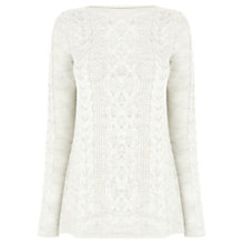 Buy Oasis Side Split Phoebe Jumper, Pale Grey Online at johnlewis.com