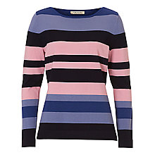Buy Betty Barclay Stripe Jumper, Midnight/Multi Online at johnlewis.com