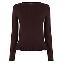 Buy Oasis Frill Hem Stitch Knit Jumper Online at johnlewis.com
