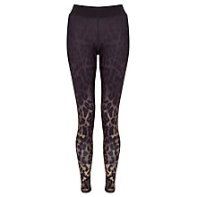 Buy ONLY PLAY Animal Print Training Tights, Black Online at johnlewis.com