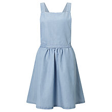 Buy Minimum Inger Apron Dress, Light Blue Online at johnlewis.com