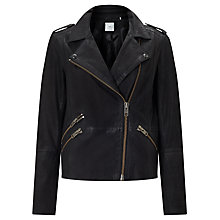 Buy Minimum Kara Leather Jacket, Black Online at johnlewis.com