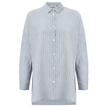 Buy Minimum Mounia Thin Stripe Shirt, Faded Denim Online at johnlewis.com