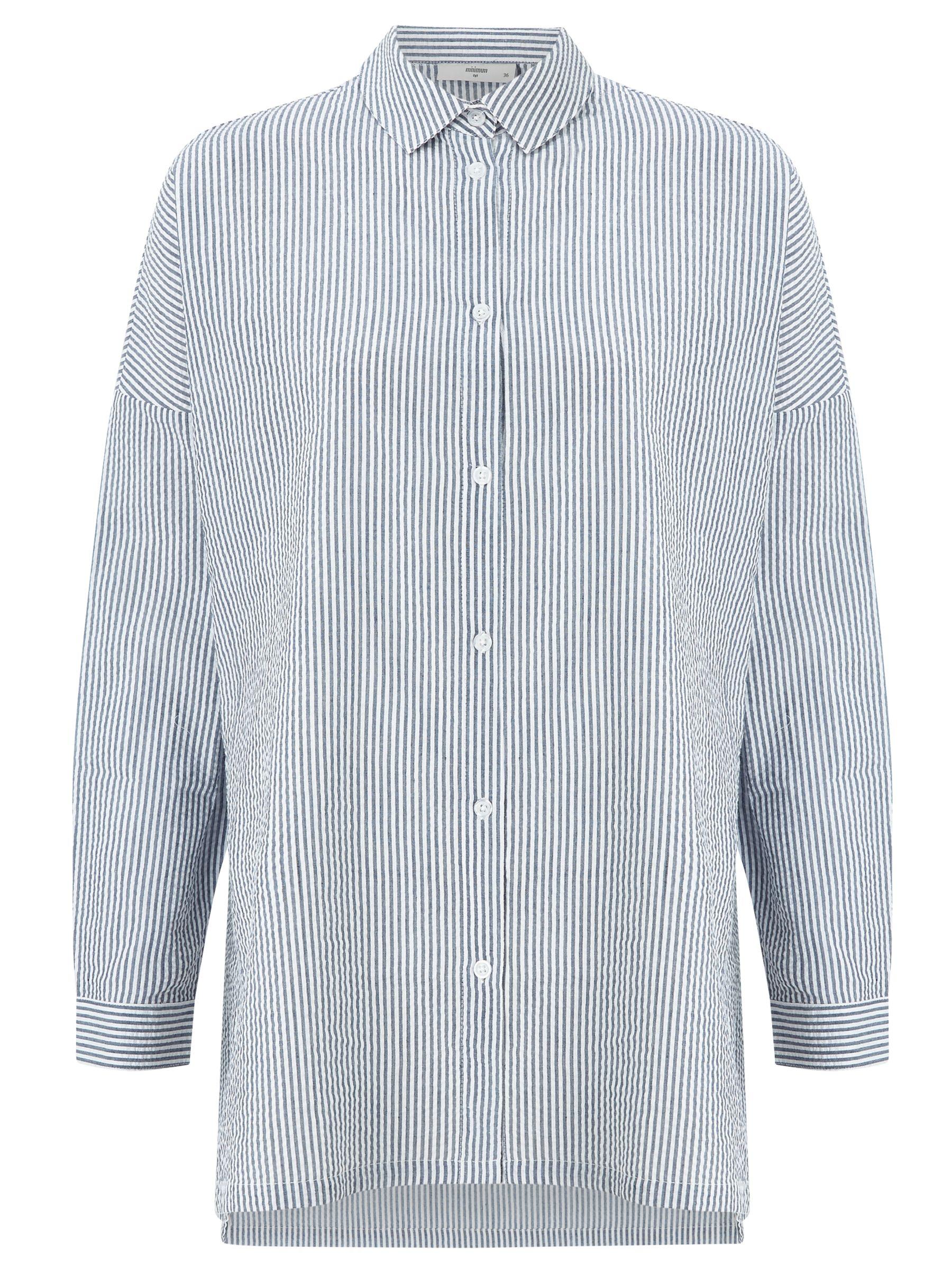 Minimum Minimum Mounia Thin Stripe Shirt, Faded Denim