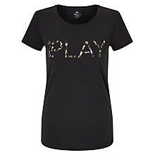 Buy ONLY PLAY Tiggy Logo T-Shirt, Black Online at johnlewis.com