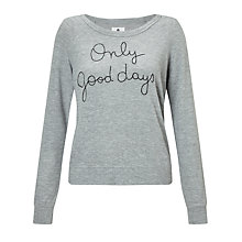 Buy Sundry Only Good Days Sweatshirt, Heather Grey Online at johnlewis.com
