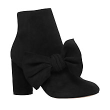 Buy KG by Kurt Geiger Rattle Bow Ankle Boots, Black Online at johnlewis.com