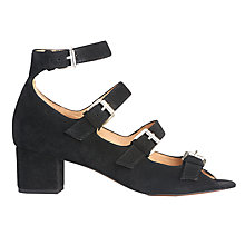 Buy Whistles Verde Multi Strap Buckle Sandals, Black Online at johnlewis.com