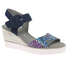 Buy Gabor Obsession Wedge Heeled Sandals, Blue Online at johnlewis.com