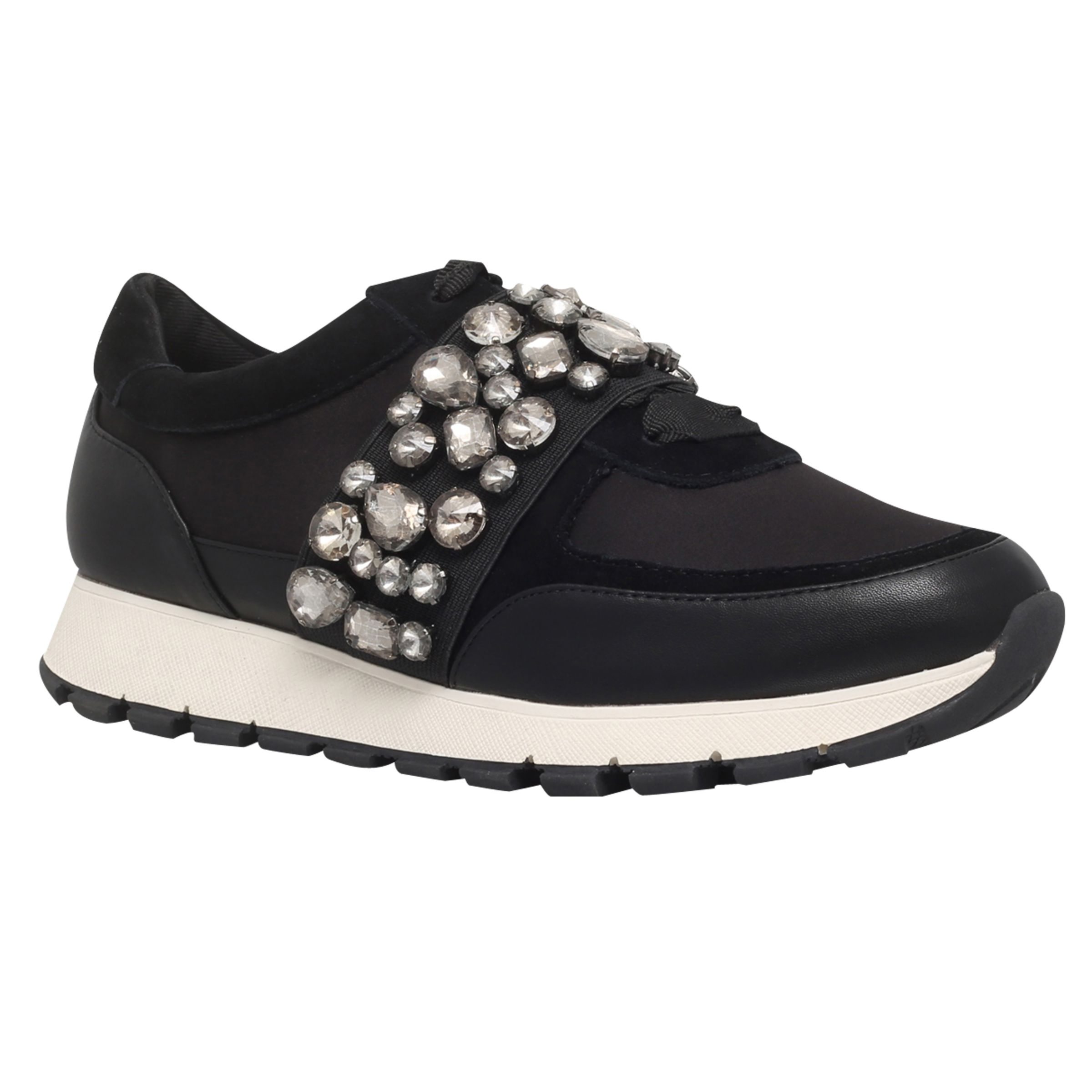 KG by Kurt Geiger KG by Kurt Geiger Lovely Embellished Trainers, Black