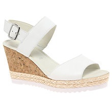 Buy Gabor Wicket Wedge Heeled Sandals, White Online at johnlewis.com