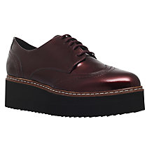Buy Carvela Lucid Flatform Brogues, Wine Online at johnlewis.com